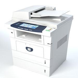 xerox copier scanner 3d model