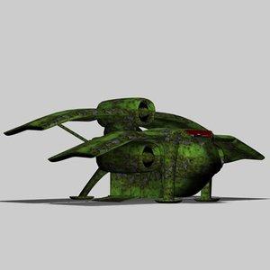 3d model of frog ship