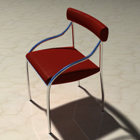 leather chrome dining chair lwo