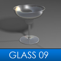 3d margarita glass model