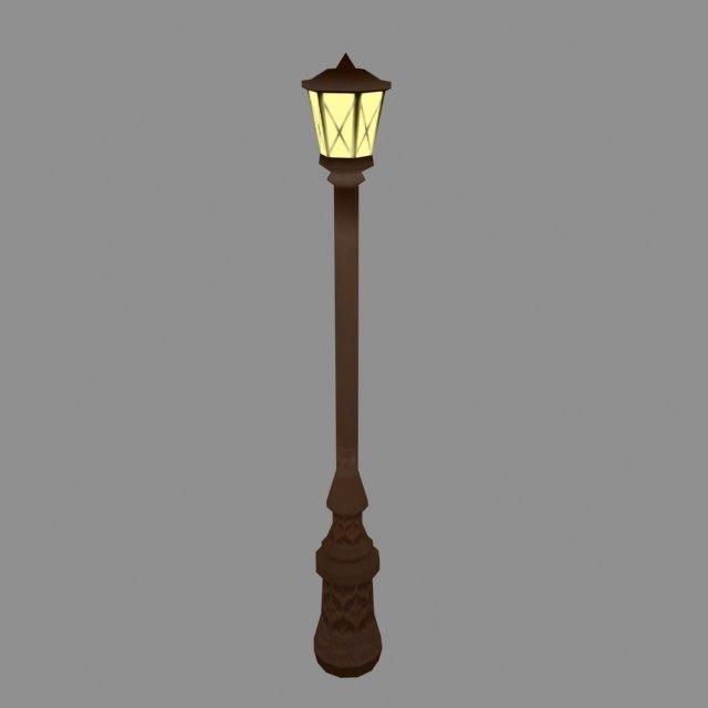 3d old street lamp -