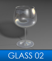 elegant wine glass 3ds