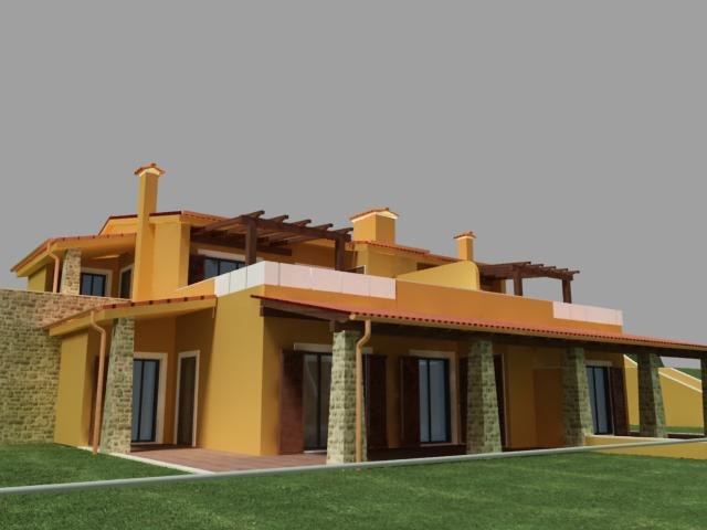 3ds max semi detached house