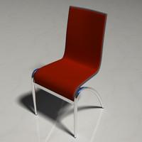 3d model plastic chrome chair