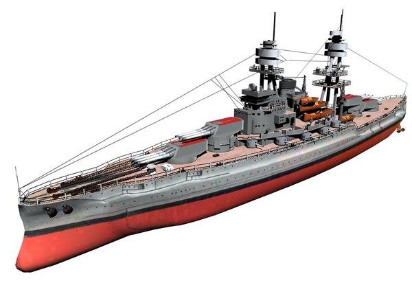 3d model uss arizona