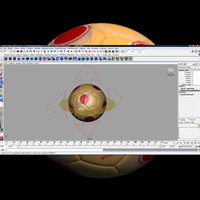 3d res soccer ball rigged model