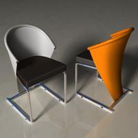 lightwave chrome metallic leather chair