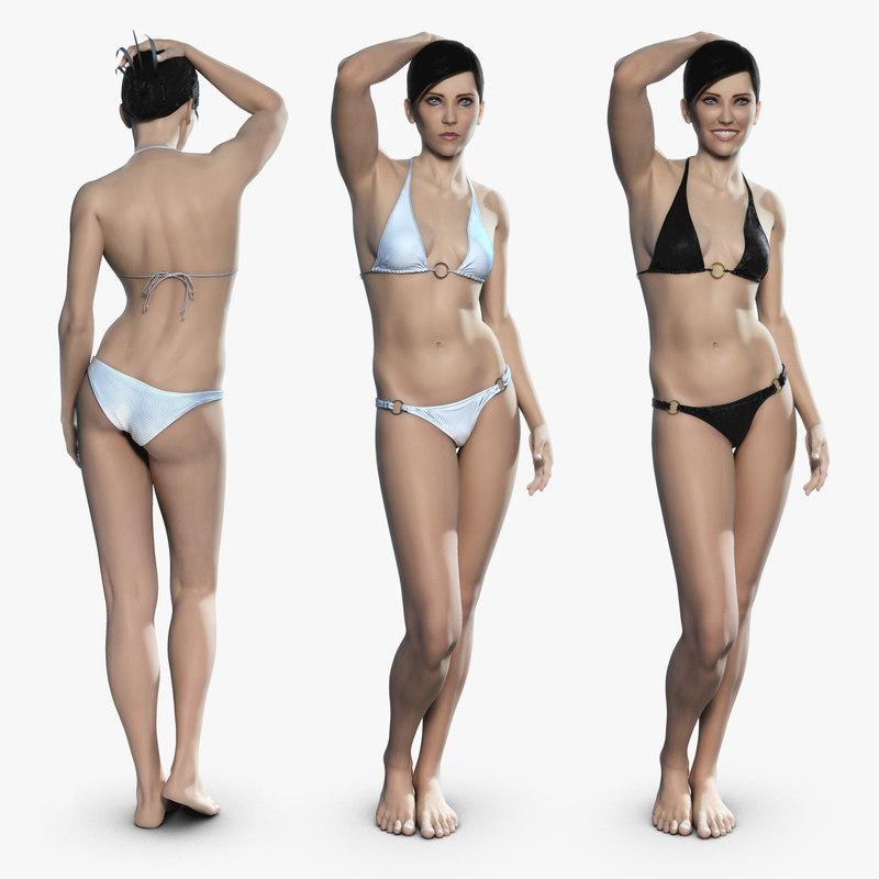 3d realistic virtual female virtuella