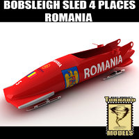 Bobsleigh Sled - 4 Places - Romania