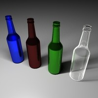 free beer bottle 3d model