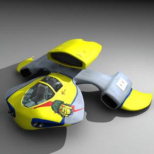 futuristic bulldog 3d x