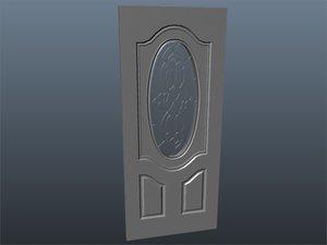 3d exterior door glass model