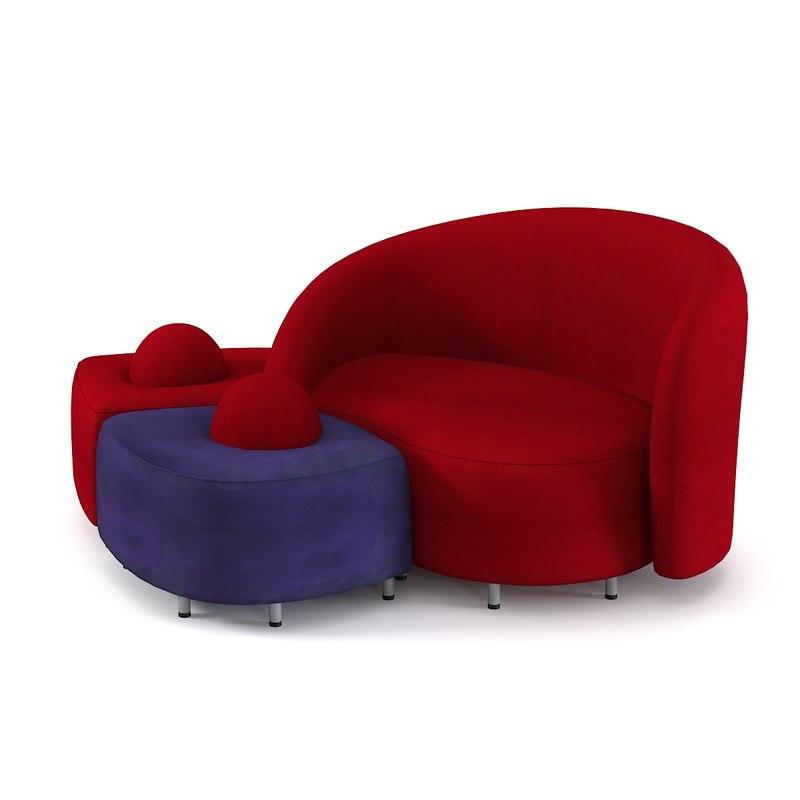 edra sofa 3d max