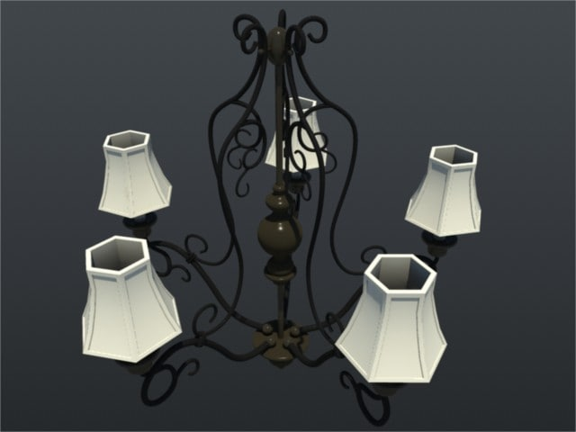 chandelier kitchen 3ds