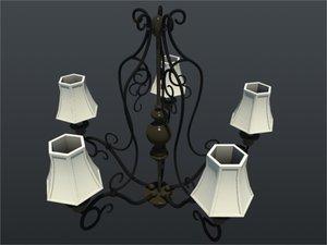 chandelier kitchen 3ds