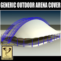 generic arena outdoor cover 3d model