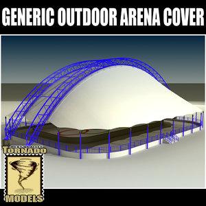 generic arena outdoor cover 3d model