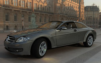 mercedes benz cl 500 3d model