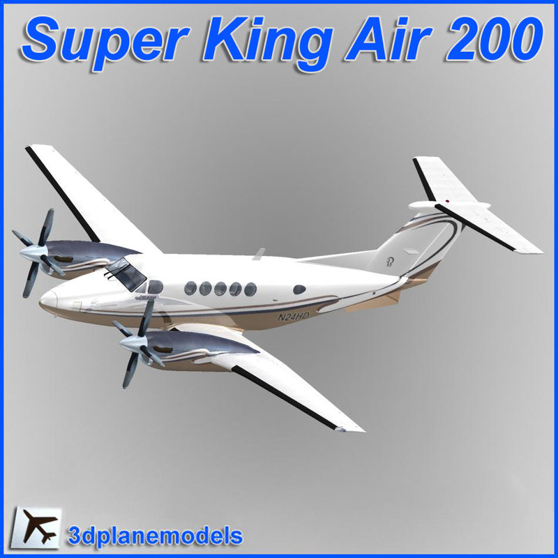 beechcraft super king air obj