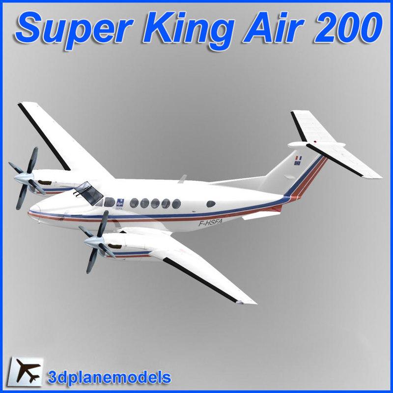 beechcraft super king air 3d 3ds