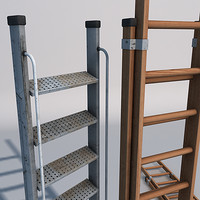 3d model ladders games simulation