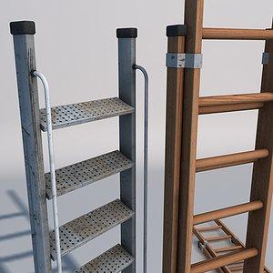3d model ladders games simulation