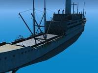 3d model merchant transport ship vessel
