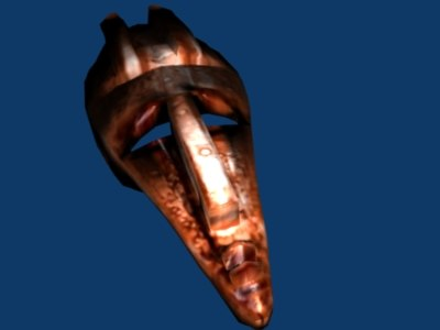 metal mask 3d lwo