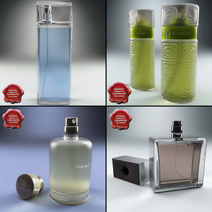 perfumes set end 3d c4d
