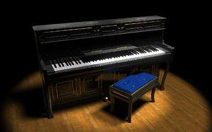 piano 3d max