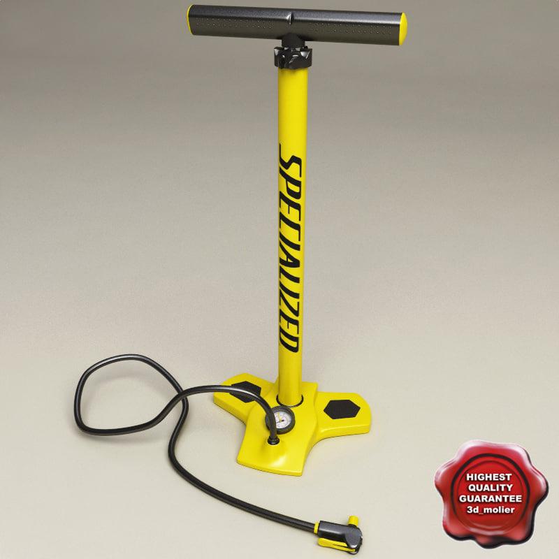 hand air pump v2 3d model