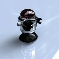 retro toy robot 3d 3ds