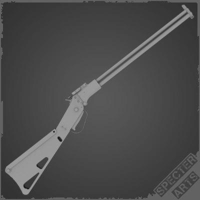 3d model combination rifle survival m6