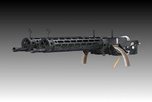 3d spandau machine guns model