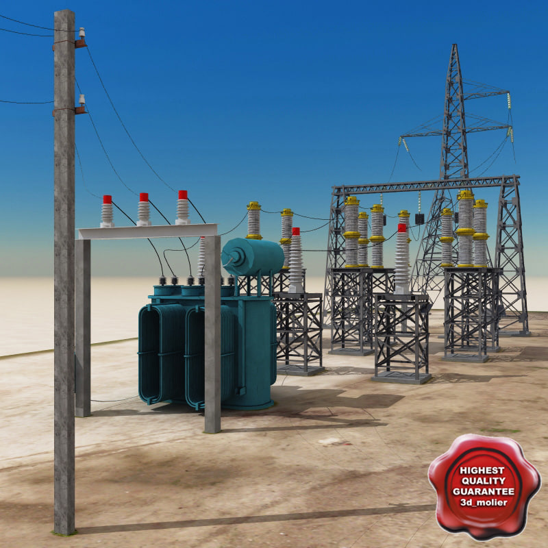 3ds max substation modelled
