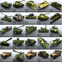 3d 3ds ready military vehicles