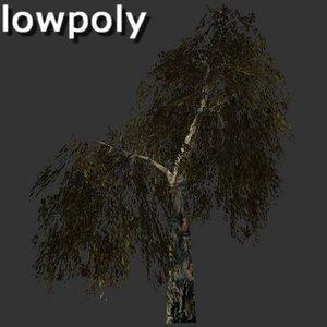 birch tree 3d 3ds