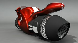 jetbike bike jet engine 3d ma