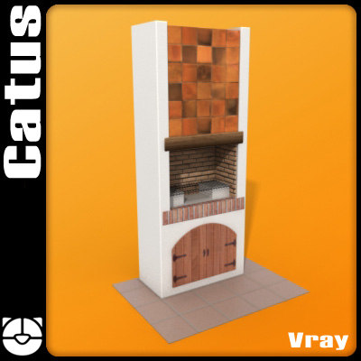 outdoor barbecue 3d model