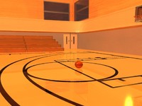 basketball court 3d max