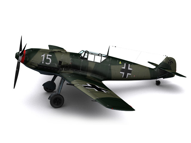 messerschmitt bf109-e3 bf109 fighters 3ds