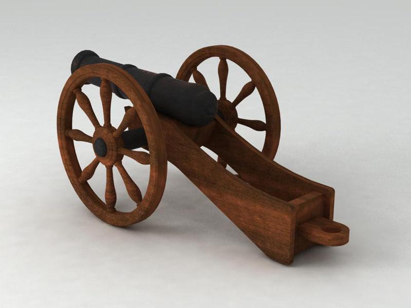 3d medieval cannon