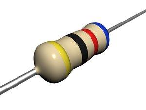 carbon resistor 3d model