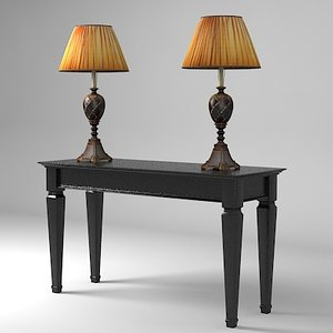 3d model of console table casali