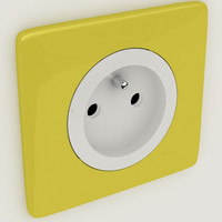 3d model of legrand socket