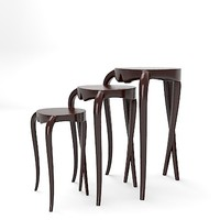 christopher guy 76-0005 table chair stool modern