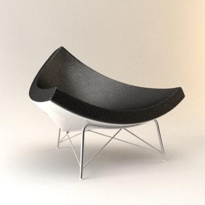 3d model coconut chair