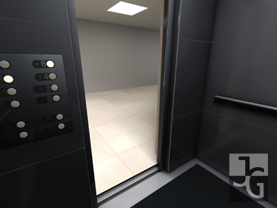 3ds max elevator security camera
