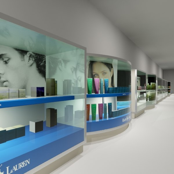 3d model parfum showcases