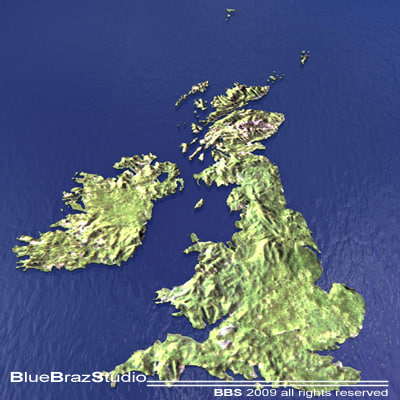 great britain 3d model